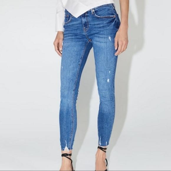 NWT zara skinny in island blue jeans